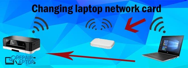 تعویض کارت شبکه لپ تاپ